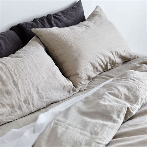 Grey Duvet Cover  100% Linen Duvet Cover In Dove Grey