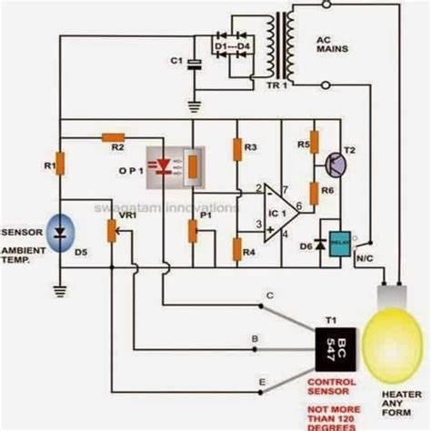 how to build a simple egg incubator thermostat circuit circuit projects