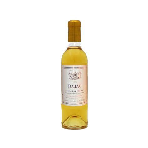 monbazillac blanc moelleux quot bajac quot 37 5 cl vin