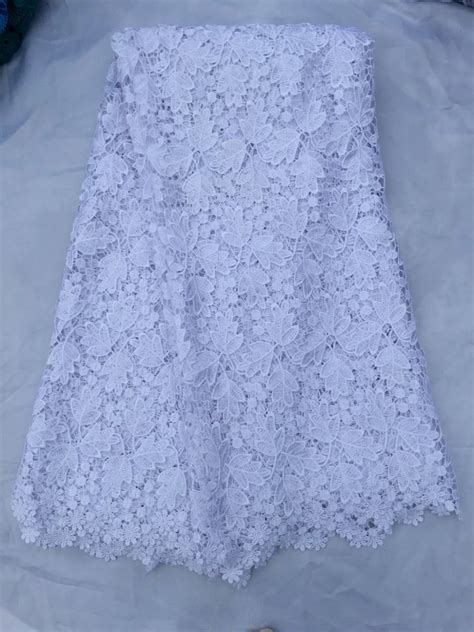 white african lace fabrics yard snow white guipure lace
