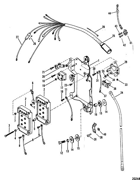 Mercury Solenoid Wiring by Wiring Harness Starter Solenoid And Rectifier For Mariner