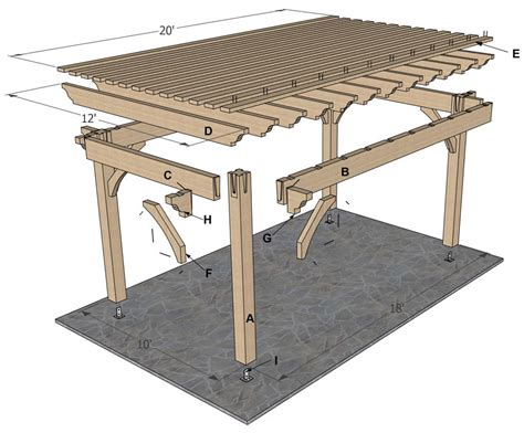 pergola design ideas 10 x 12 pergola plans most recommended design oak wooden posts crossbeams