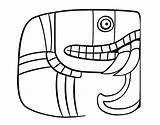 Maya Coloring Script Mayan Pages Calendar Colorear Dibujo Coloringcrew Template sketch template