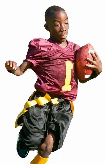 Football Flag Player Wichita Sports Play Fewer