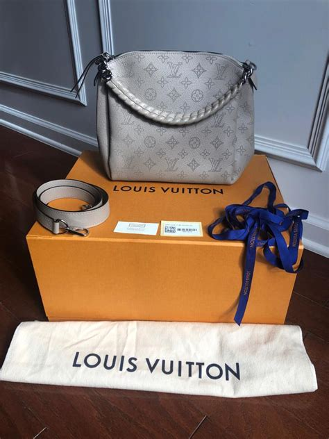 louis vuitton babylone mahina chain bb galet leather