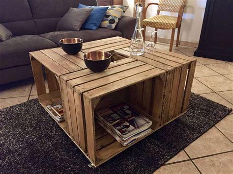 comment faire une table de cuisine des tables basses à base de caisses à pommes