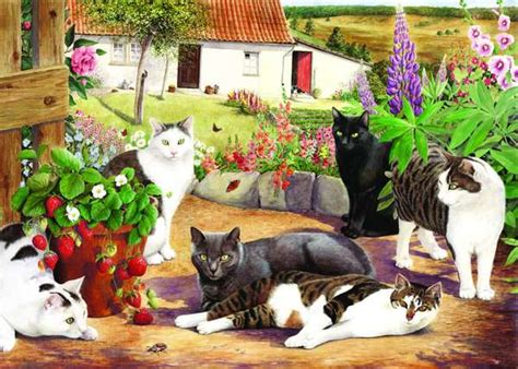 cool cats extra large jigsaw puzzle  jigsaw puzzles