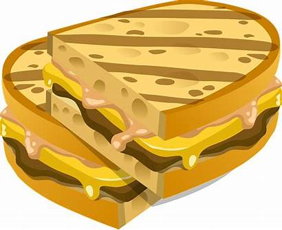 Sandwich Cheese Bread Clipart Meat Grilled Vector