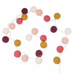 Guirlande Lumineuse Maison Du Monde : guirlande lumineuse 24 led en coton multicolore maisons du monde ~ Teatrodelosmanantiales.com Idées de Décoration