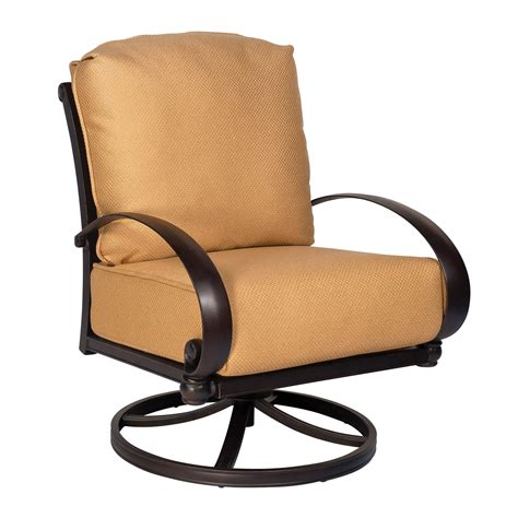 woodard 7z0477 outdoor swivel rocking lounge chair