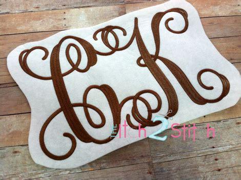 intertwined interlocking vine monogram embroidery font