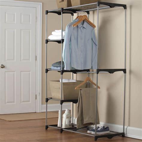 simply rod garment rack closet