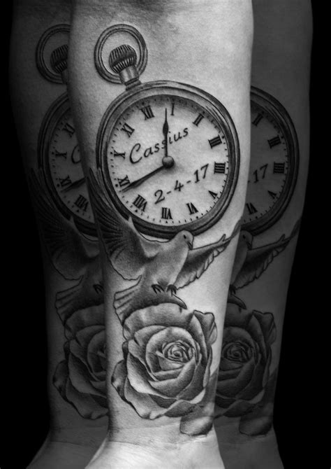 Scott White | Pocket watch tattoos, Skull sleeve tattoos, Watch tattoos