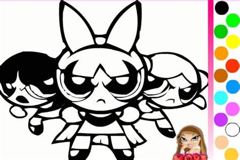 powerpuff girls coloring game powerpuff girls games