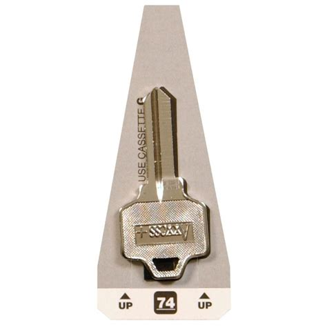 National Cabinet Lock by The Hillman 74 Blank National Cabinet Lock Key