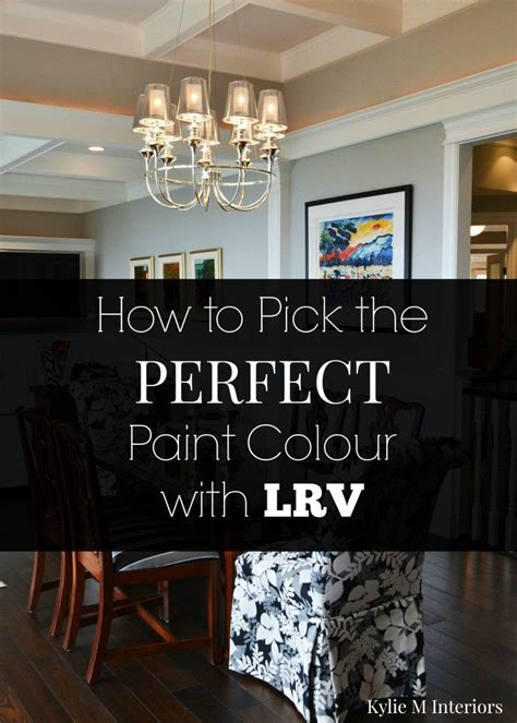 tips to pick the perfect paint colour using lrv and