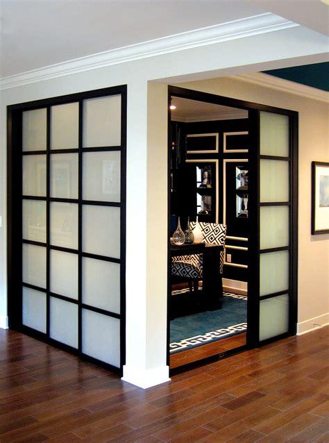 Double Glass Wall Slide Doors