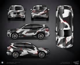 autofolierung design geometric camo wrap design for bmw x3 f25 vehicle wraps bmw bmw x3 and wraps