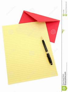 yellow letter paper and red envelope stock images image With red letter envelopes
