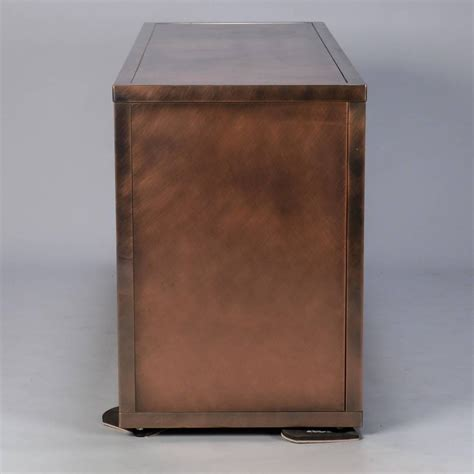 metal cabinets for kitchen maison jansen midcentury textured copper and brass cabinet 7449