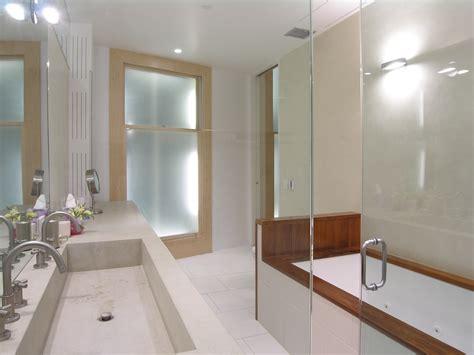 undermount trough sink bathroom modern with double sinks