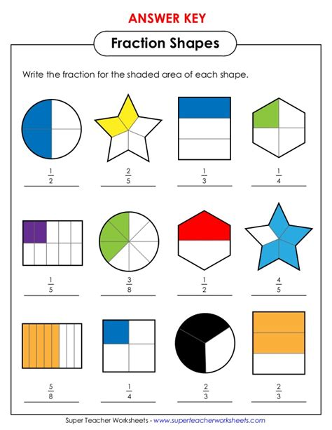 Fractions Of Shapes Worksheets Year 2  Free Worksheets
