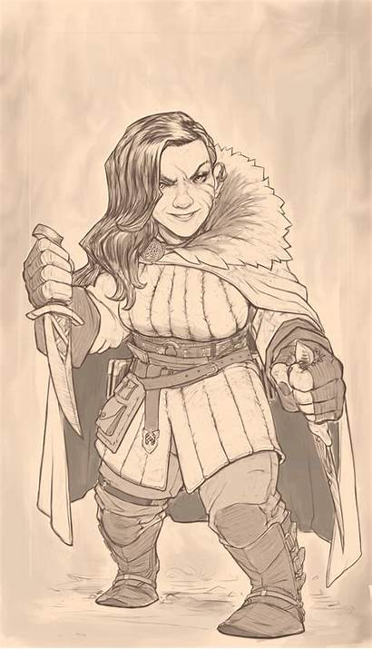 Dwarf Rogue Female Eren Artstation Tuncer Fighter