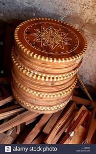 Morocco Essaouira Woodworking Unfinished Circular