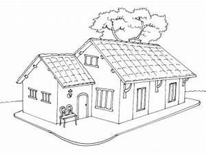 coloriage maison 5 tipos de vivienda pinterest 2 With dessin de belle maison