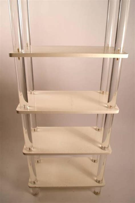 Additional Shelves For Bookcase by Lucite And Wood Shelf For Sale At 1stdibs