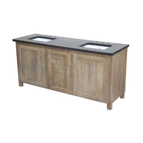 72 double sink vanity marble top shop yosemite home decor natural 72 in undermount double