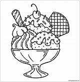 Ice Cream Pages Cute Coloring Template sketch template