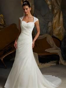 cap sleeve trumpet mori lee blu bridal gown 5103 With wedding dresses cap sleeves