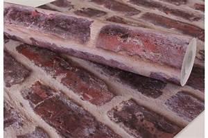 Papier Peint Trompe L Oeil Brique : papier peint briques rouge papier peint trompe l 39 oeil ~ Premium-room.com Idées de Décoration