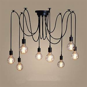 Large chandelier lighting vintage pendant light modern