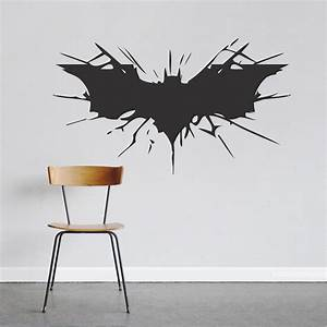 Bat wall decal large boys bedroom wall designs hero for Batman wall decal