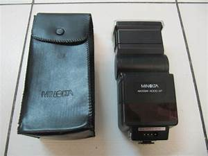 Classic Minolta Maxxum Flash 4000 Af With Case And Manual