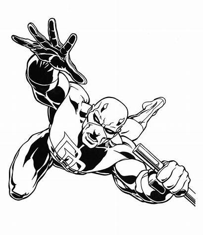 Coloring Pages Marvel Heroes Daredevil Boob Printable
