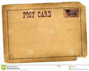 Antique Vintage Postcard Blank Space Stock Image - Image ...