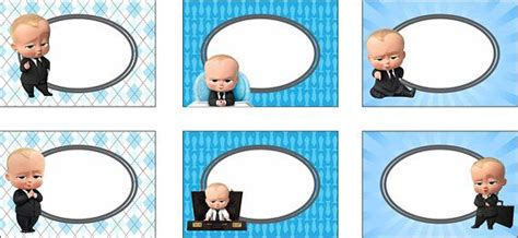 boss baby food labels boss baby place cards boss baby