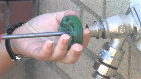 fix  leaky outdoor faucet youtube