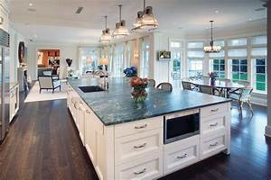 Eat in kitchen island ideas kitchen contemporary with for Kitchen decorating ideas for the kitchen island