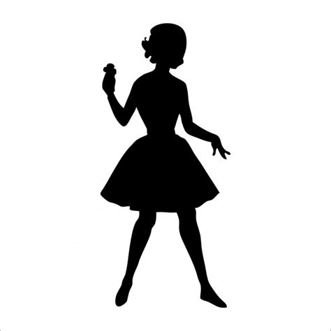 Woman Silhouette 1950s Clipart Free Stock Photo - Public ...
