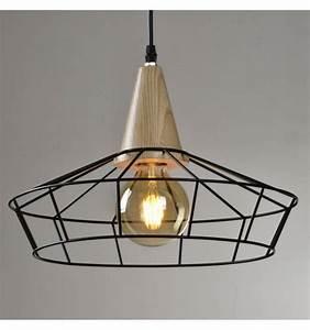 Suspension Noire Design : suspension industrielle cage noire luma kosilum ~ Teatrodelosmanantiales.com Idées de Décoration