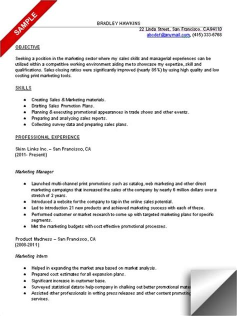 Marketing Resume Tips by 17 Best Ideas About Marketing Resume On Best