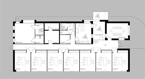 plan des bureaux batiment de bureaux grades architectes