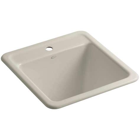 Undermount Laundry Sink Home Depot by Kohler Park Falls 22 In X 21 In Cast Iron Drop In