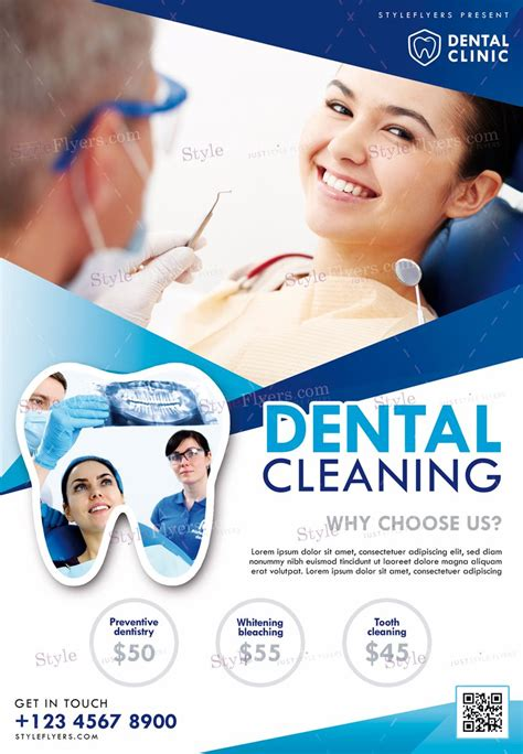dental cleaning psd flyer template flyers psd flyer