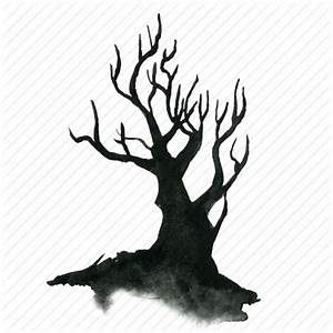 Spooky Halloween Tree Clipart (34+)