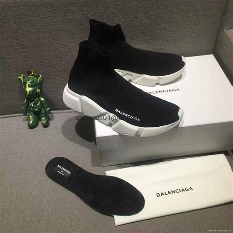 Trainer Socks With Boat Shoes by Balenciaga Speed Trainer Knit Runner High Sock Black White